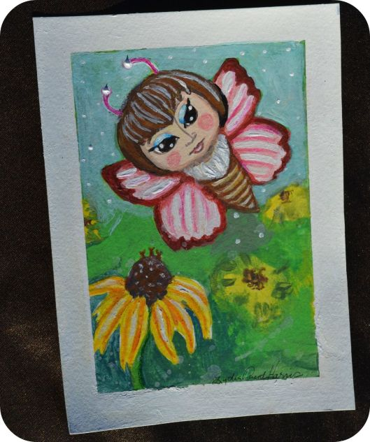 butterfly fairy woman